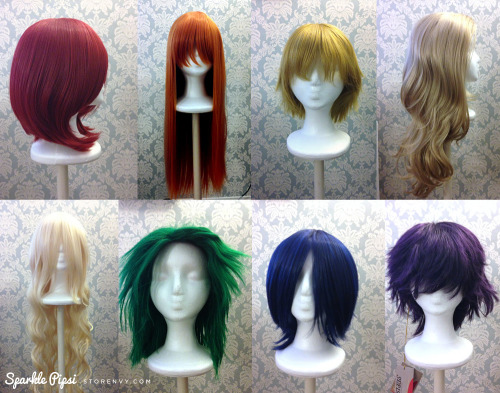 So I recently posted an ENTIRE RAINBOW of wigs in my store xD!! Hoping to clean out my closet + earn some cash for Fanime costumes ~ :3 Please take a look and share~! ♥http://sparklepipsi.storenvy.com/