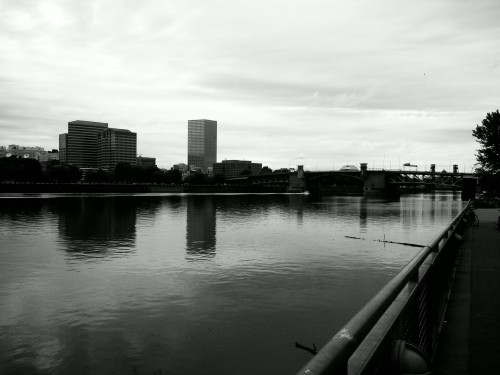 Black & White Waterfront  [Edited: Black and White filter, adjusted contrast]