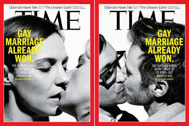 "gay-men:  The latest issue of TIME Magazine proclaims marriage equality ""already won"", regardless of the Supreme Court's imminent rulings. ""The Supreme Court hasn't made up its mind - but America has"" reads the cover."