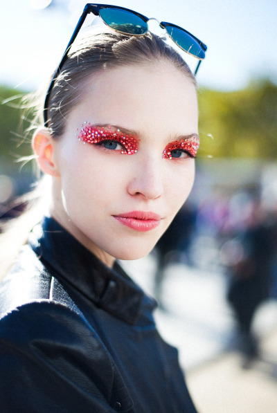 giackit:  The sensational Sasha Luss after the Dior SS13 show in Paris. Photo by Giacomo Cabrini