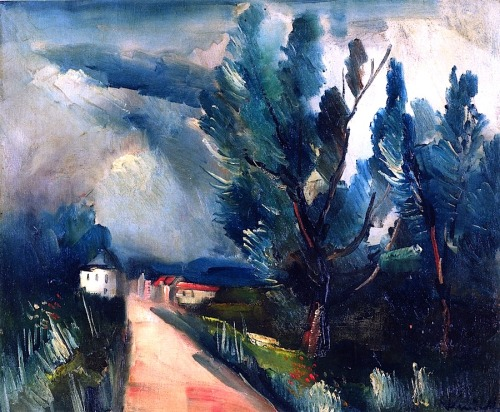 bofransson:  Landscape Maurice de Vlaminck - circa 1915-1920  In memory of yesterday's huge evening storm.:-)