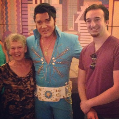 Mothers Day Show. The King. #lvhotel  #lasvegas #elvis #trent #carlini