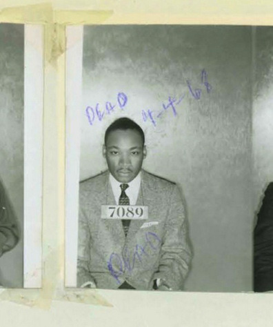 Who Scrawled On MLK's Mugshot?