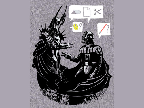 believeinmiddlearth:  Rock, Paper, Scissors, Ring, Lightsaber