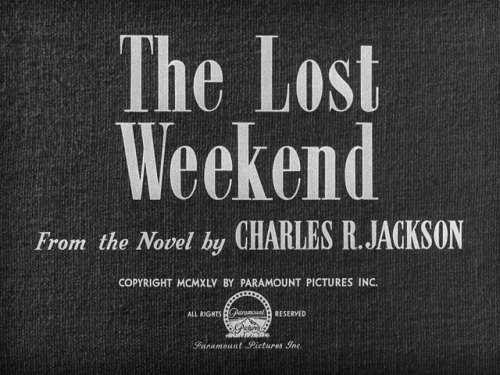 (via The Lost Weekend (1945) Billy Wilder | movie typography)