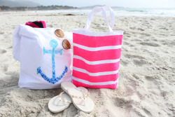 bethnoelmota:  DIY beach bags! Tutorial on Macbarbie07 :)  love it gonna try the anchor one! :)