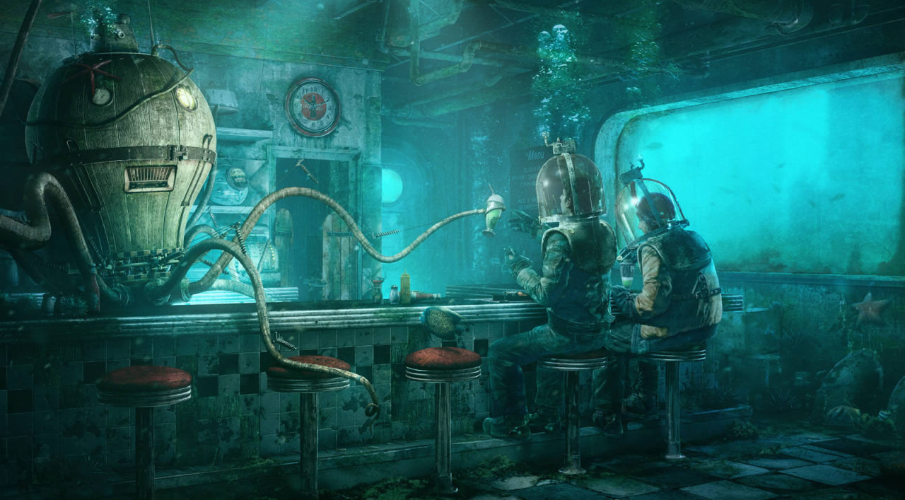 cwtwist:  Octopus Diner  by Stephan Brisson,
