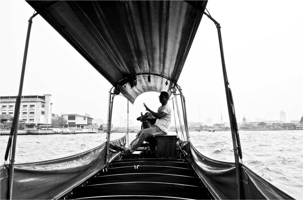 Boatman at Chao Phraya River, Bangkok