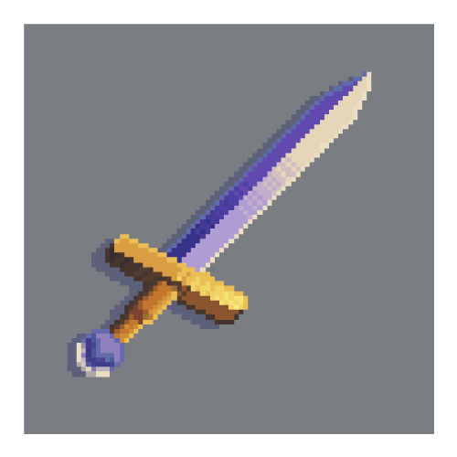 I drew this little pixel sword. Pixel art is fun and I wanna do more of it ^_^