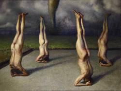 museumuesum:  Jan Esmann Four Clones Worshiping a Tornado, 2004