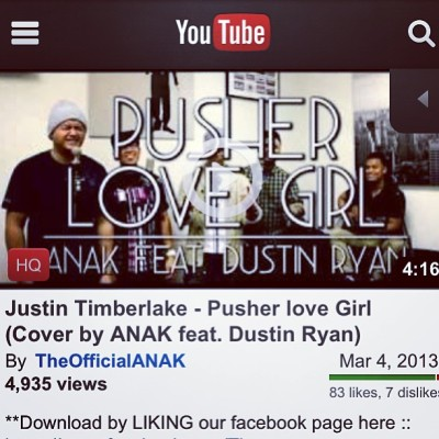 Almost to 5000 views!! Like if you've watched our cover of #pusherlovegirl! Check it out on our YouTube page @theofficialanak. Link is in our profile. Much love!!!