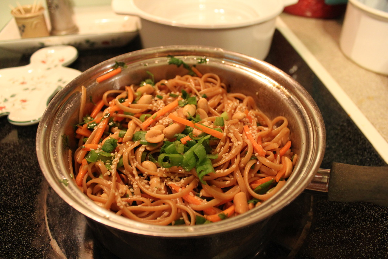 Spicy Thai Noodles SO GOOD recipe below: http://www.fussfreecooking.com/meat-recipes/baked-pasta-with-roasted-peppers-and-zucchini-giveaway/