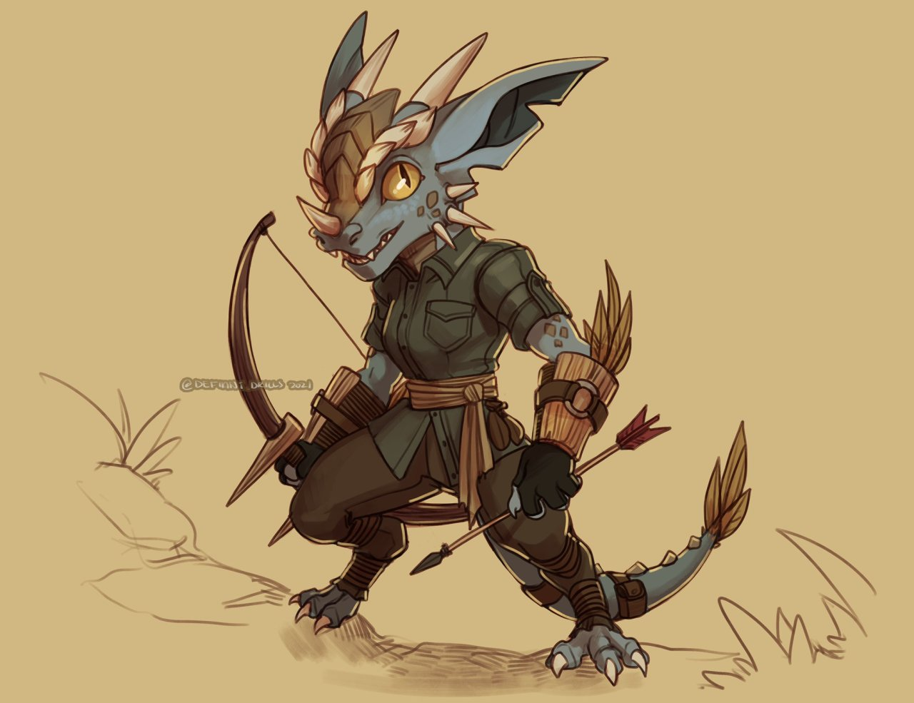 Redesigned an old character of mine. She's a kobold now. #kobold#dnd #Dungeons and Dragons #fantasy#character design#my oc#digital art