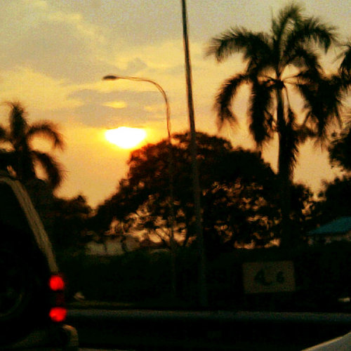 Dusk. (Photo taken and uploaded via MOLOME )