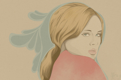 my old artwork another Adele fan art.. :p :)