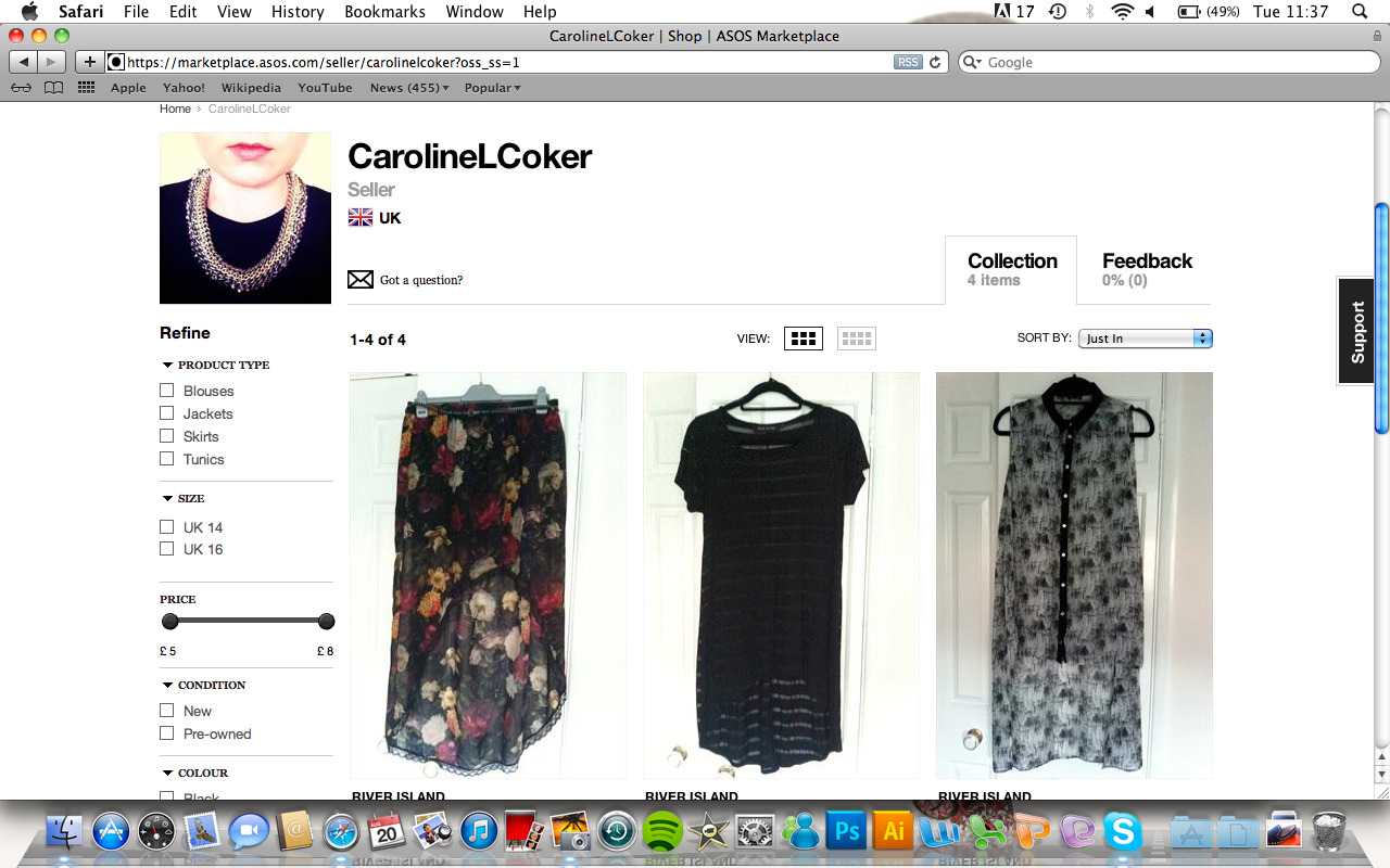 Selling a few bits on Asos Marketplace…take a look! There will be more to follow.https://marketplace.asos.com/seller/carolinelcoker?oss_ss=1