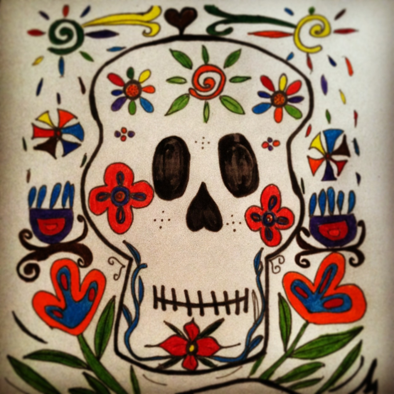 """La Juana."" Colorbook Calavera. For my sister."