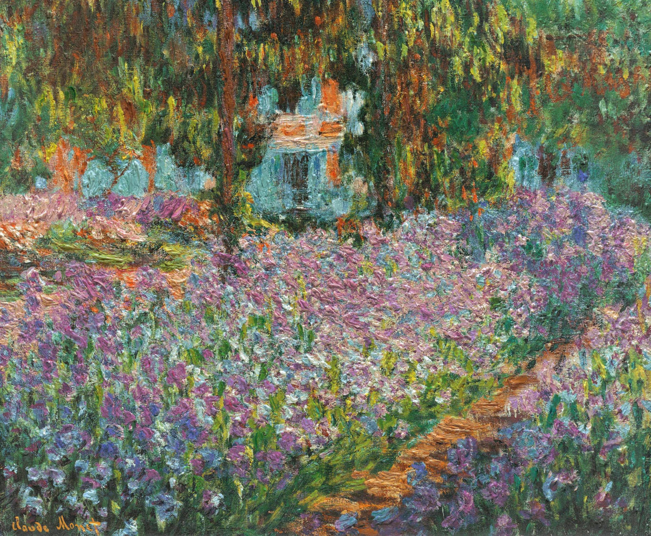 seabois:  Claude Monet, Irises in Monet's Garden, 1900.