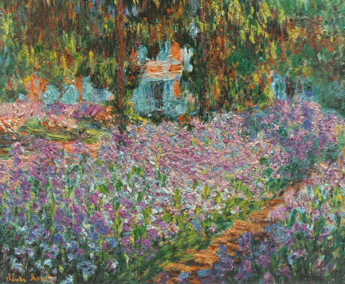 art-library:  Claude Monet, Irises in Monet's Garden, 1900.