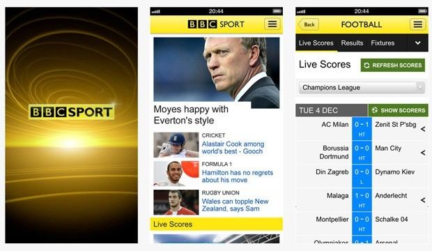 BBC Sport Launches Mobile App; Android App to FollowToday the BBC has launched  free Sport app for iPhone and iPod touch devices in the UK, with the…View Postshared via WordPress.com
