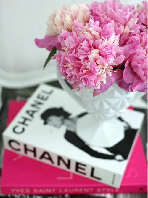 #chanel #books #flowers