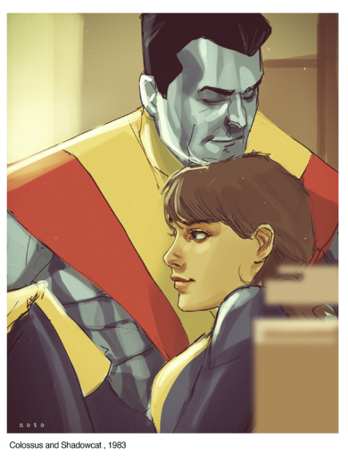 "philnoto:  From the Hank Pym Photo Archives -  Peter Rasputin and Katherine ""Kitty"" Pryde, 1983  So great."
