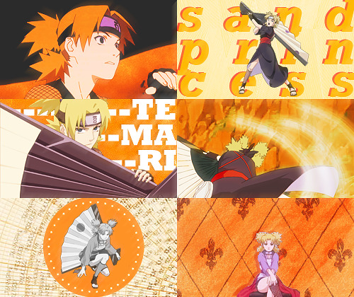 color meme: temari + orange asked by anonymous