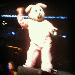 Drunk bunny! #greenday #drunkbunny #heyholetsgo #99revolutionstour #nyc #99revolutionstour13 #brooklyn #barclayscenter  (at Barclays Center)