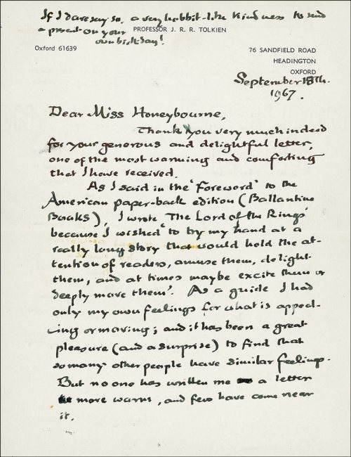 tolkienisms:   Tolkien's Handwriting