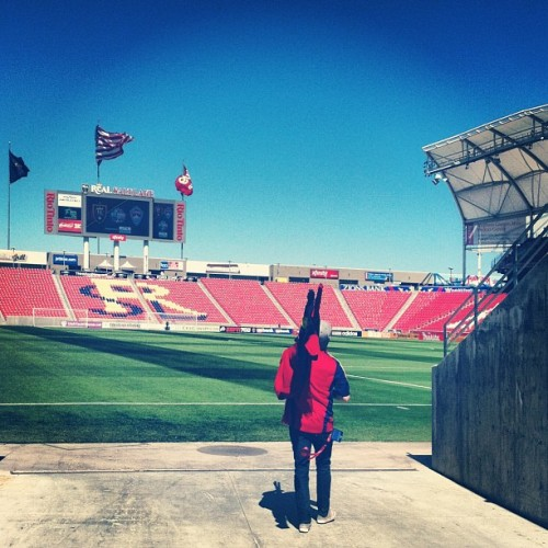 Pregame at the RioT. #rsl @sltidjake