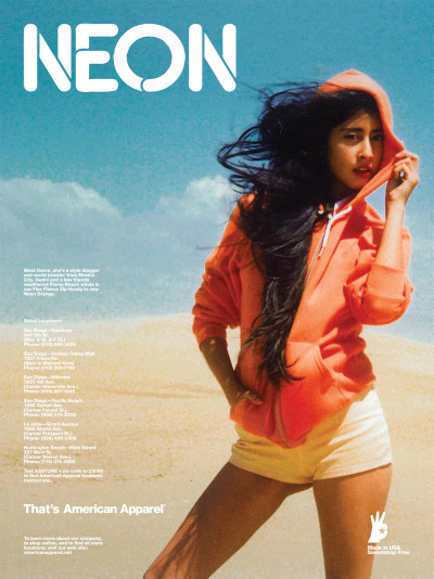 Neon. That's American Apparel. June 2011.