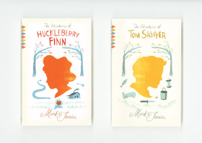 Redesign of Mark Twain's classic novels.