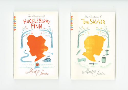 Mark Twain Book Covers by Chris Silas Neal