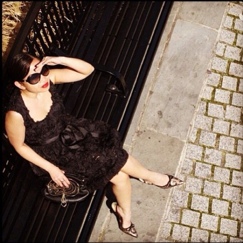 Monet #dress #VonVonni #NYC #blackDress #LBD