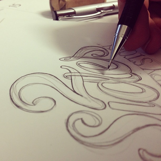 drawin' letterz t'day. #sketch #letters #lettering #handlettering #art #illustration #drawing #typography #design