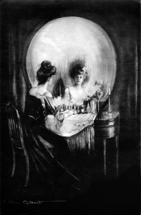 gaksdesigns:  All is Vanity(1892) - Charles Allan Gilbert