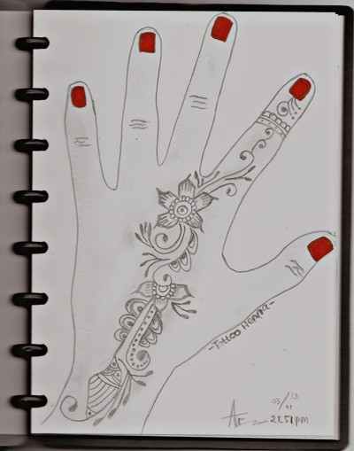 Oh this is my project henna sketch