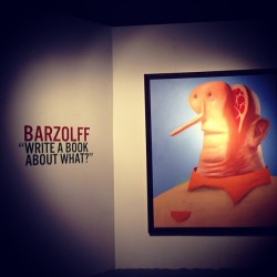 BARZOLFF preview #GregoryBernard #graffiti #France #LA #latergram  (at Pacific Design Center)