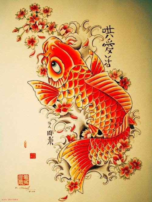 inkandtattoo:  Koi Tattoo Design by Robert McNeill.