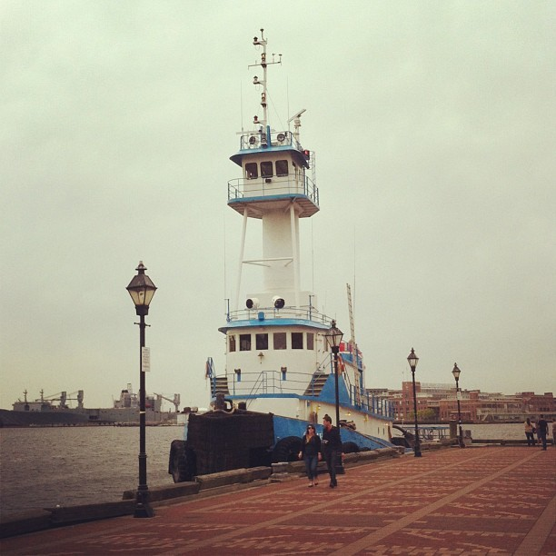 A curious boat at Fells Point.