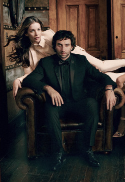romanticnaturalism:  Muse and designer, Liv Tyler and Riccardo Tisci in 'Tisci's Time' photographed by Annie Leibovitz for Vogue US March 2012