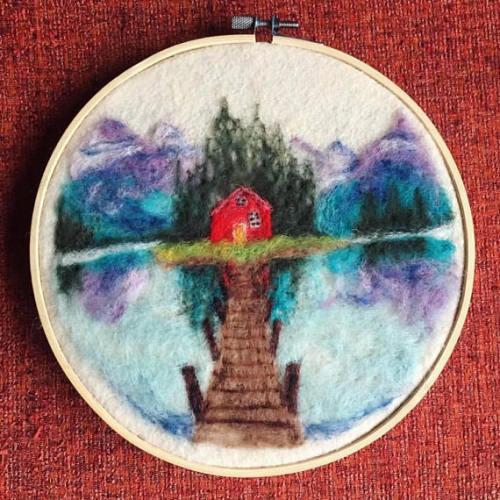 fiber art embroidery hoop embroidery hoop art embroidery art embroidery embroidered needle felted needle felting fiber arts art home decor