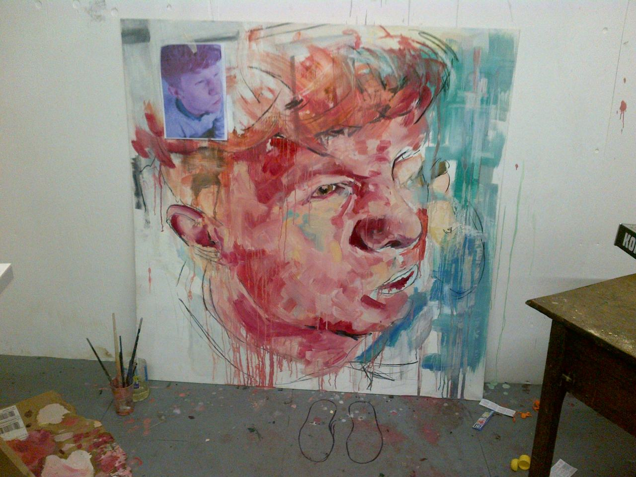 Almost done. ÉTUDE DES ROUGE  (xx:xx) Oil on MDF rowanjames x