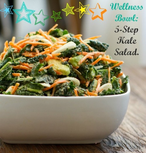 Our adoration of kale salad is no secret, but for those who need a quick recipe, Kathy Patalsky's is the cat's pajamas.  But then again, so is this.