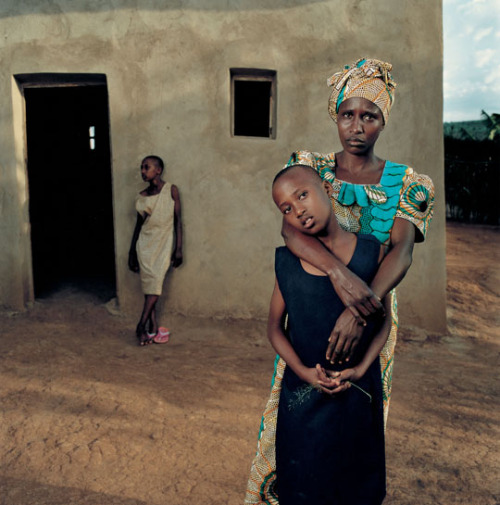 thesmithian:   …a series of environmental portraits made in Rwanda of women that were brutally raped during the Rwandan genocide and the children they bore from those brutal encounters.  more.