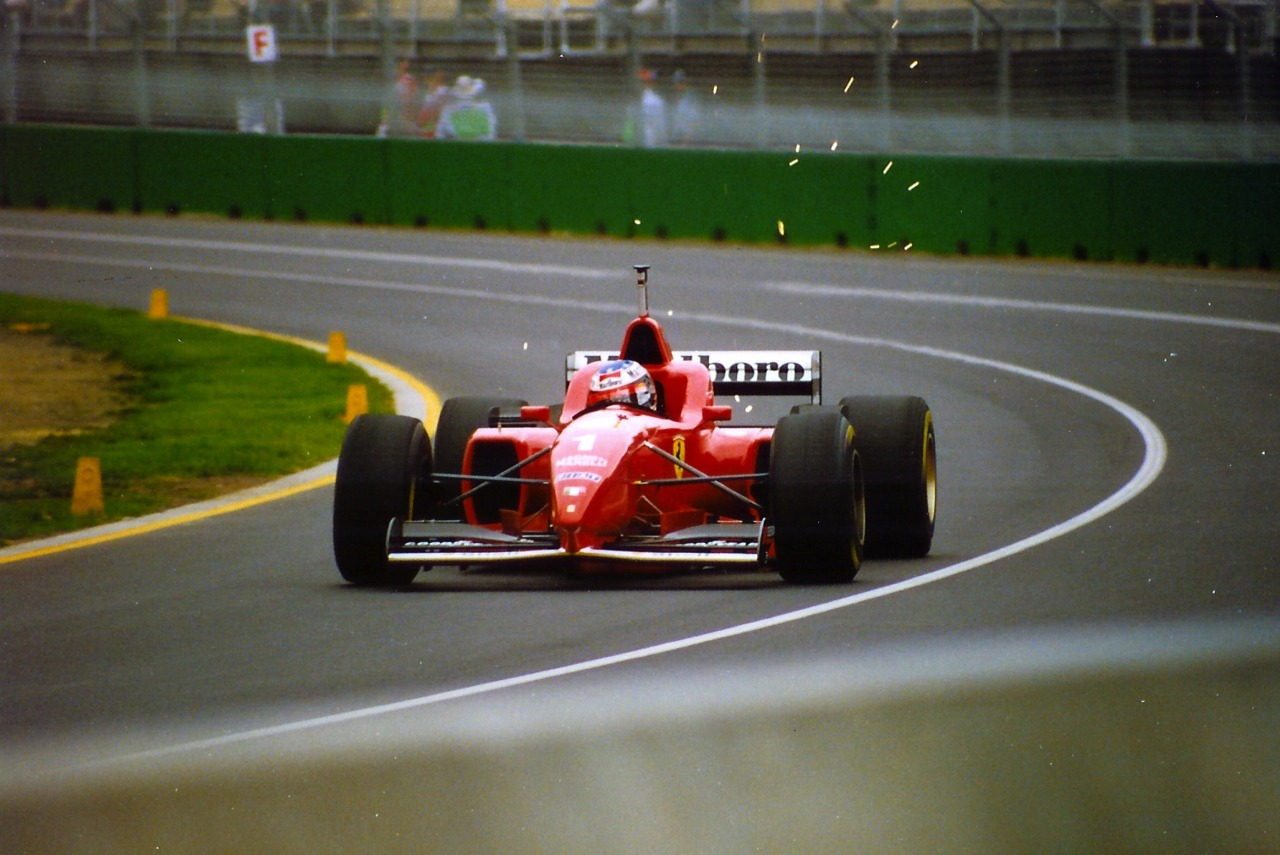 timewastingmachine:  Ferrari F310 car #1 Michael Schumacher at the 1996 Australian Grand Prix