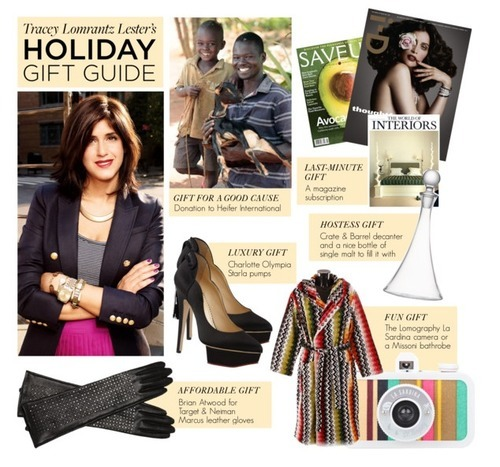 Check out Glamour editor Tracey Lomrantz Lester's holiday gift guide today on Polyvore!