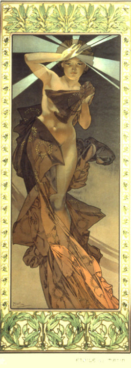 the morning star by mucha, 1902