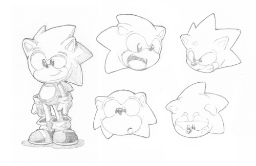 Just bit of a character study of my favorite blue blur!