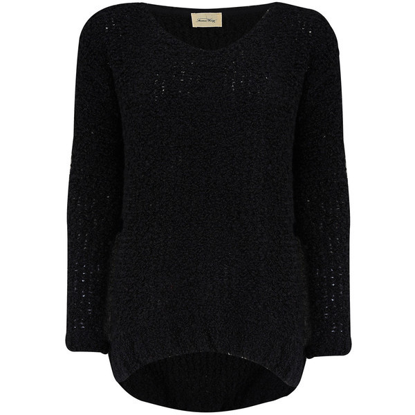 American Vintage KIMOSBROW PULLOVER - BLACK   ❤ liked on Polyvore (see more long sweaters)